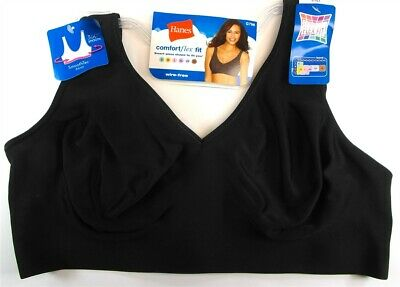 7c0c10ee680ad Hanes Women s Comfortflex Fit SmoothTec Band Unlined Wire Free Bra G796  Black