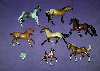 Breyer Horse Lot of 7 Small Sized Horses Stablemates