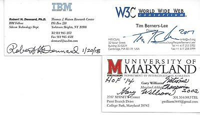Creator Of The Internet Tim Berners-Lee Signed Business Card