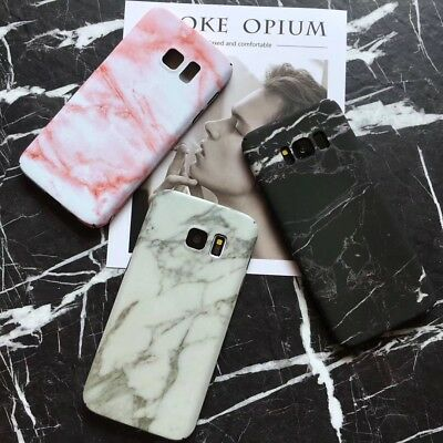 Stylish Granite Marble Stone Effect Full Hard Case For Samsung Galaxy S8 Note 8