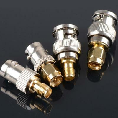 4X BNC To SMA Type Male Female RF Connector Adapter Test Converter Kit w/