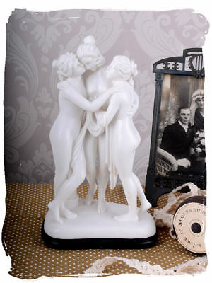 Antique Looking Sculpture Three Graces After Canova Female Figure Muses