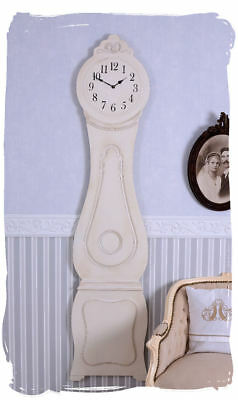 Swedish Wall Clock White Mora Watch Shabby Chic Large Clock Country House