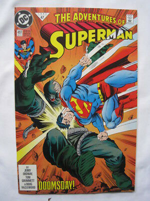 Adventures of SUPERMAN 497 1st PR.VFN. DEATH OF SUPERMAN /DOOMSDAY STORY.DC.1992