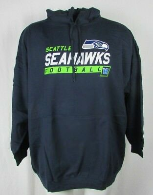 Nice NEW MENS NFL Majestic Seattle Seahawks Pullover Hoodie Blue Big and
