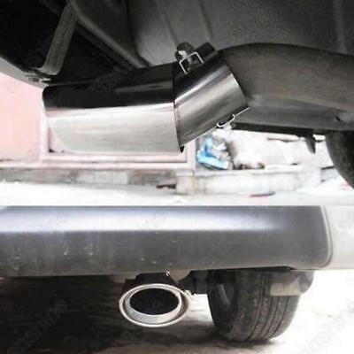 Universal Stainless Steel Car Rear Round Exhaust Muffler Tail Pipe Trim Tip Z