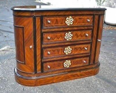 Armoires & Wardrobes Pair Burl Maple Art Deco Large Commodes Bed Side Tables