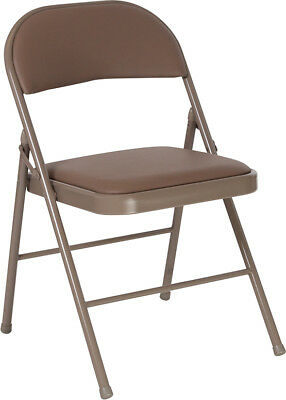 Lot Of 20 Hercules Series Double Braced Beige Vinyl Folding Chair