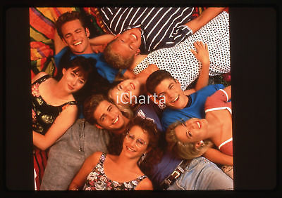 35mm vintage slide* 1990ca BEVERLY HILLS 90210 cast della serie tv (3)
