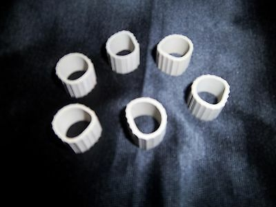 Home Interiors Rubber Grommets for nibs on candle cups  set of 6 NEW in PKG.