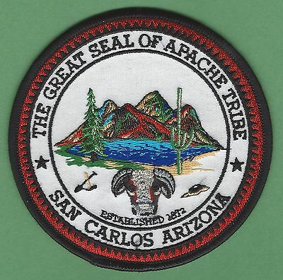 San Carlos Apache Arizona Tribal Seal Patch