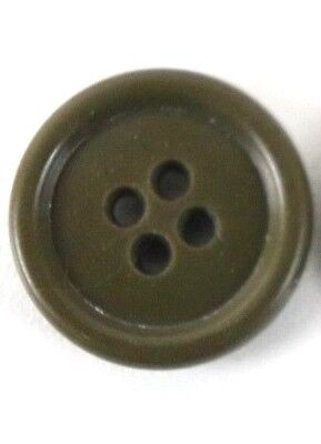 WWII US Navy N4 Jacket Buttons OD 19mm 3/4in 30 ligne each B8326