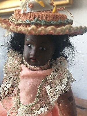 RARE Antique Black African American Doll By Gebruder Kuhnlenz
