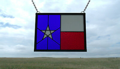Stained Glass Texas Flag Window Panel