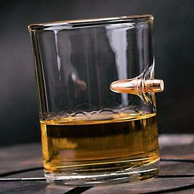 Bullet Whiskey Glass Mug Cup With One Bullet 201-301 ML For Bar Party