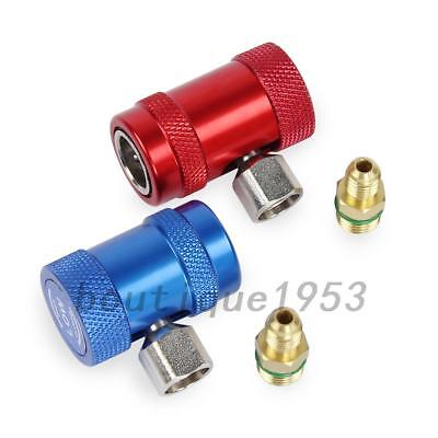 2pcs R1234yf Quick Connector Refrigerant Air Conditioning Adapter New