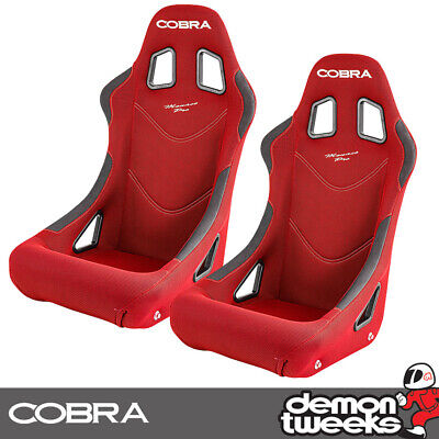 2 x Cobra Monaco Pro FIA Approved Race / Rally Bucket Seats - Red