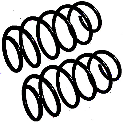 Fit With Saab 9 3 Front Coil Spring Rh2948 1 8l Pair