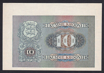 Estonia 10 Krooni, 1940  back proof in full color