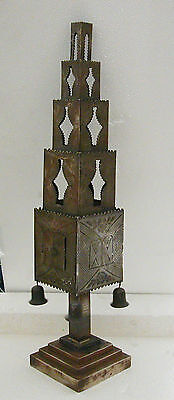 A LARGE VINTAGE NORTH AFRICAN SOLID SILVER 800 SPICE TOWER (for Besamim).