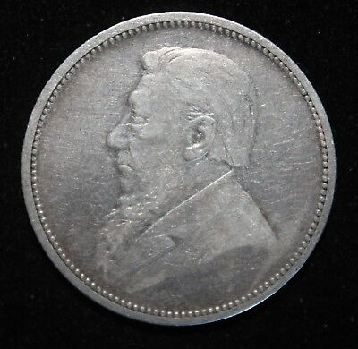 A VF-XF  South Africa 1892 Silver 2 Shillings