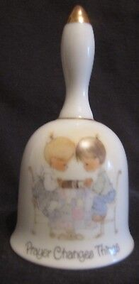 """Vintage Precious Moments """" Prayer Changes Things """" Collection Bell"""