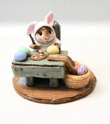 Wee Forest Folk MOUSIE'S EGG FACTORY White Bunny Suit EASTER