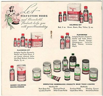 Perfection Avon Products Vintage Recipe Booklet Flavorings Baking Powder