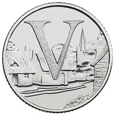 2018 V - Villages Uk 10P Early Strike Uncirculated Coin