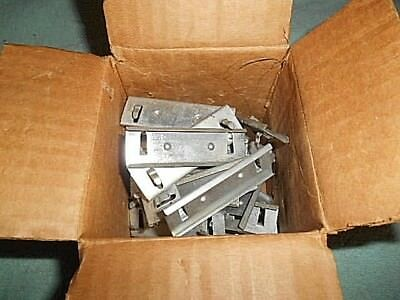 "43 Pieces - Parts Shelf Metal Label Holders 2-3/4"" Wide X 7/8"" Tall"