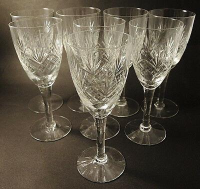 8 Vintage Holmegaard Kastrup Cut Crystal Else Small Champagne Red Wine Flutes