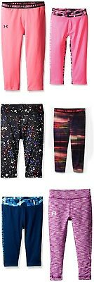 New Under Armour Girls Cropped Leggings Capris Choose Size and Color