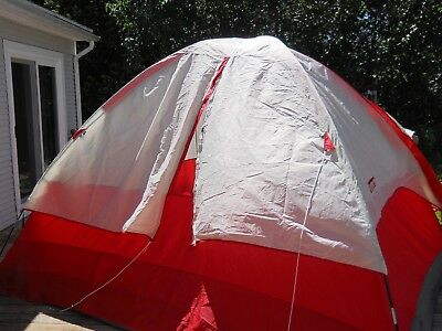 COLEMAN 6 PERSON TENT Sunlight Ridge With Awning Carry Bag
