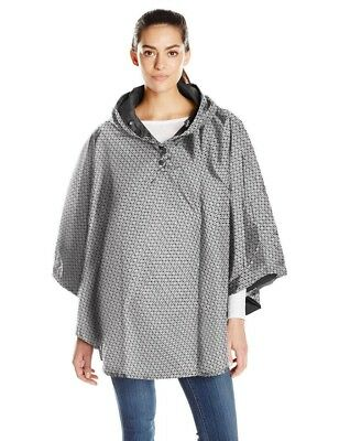 Totes Isotoner Women's Reversible Hooded Waterproof Rain Poncho Cape + Pouch