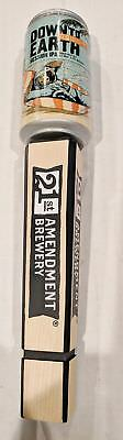 New in Box - 21st Amendment Down to Earth Session IPA Beer Tap Handle - 12""