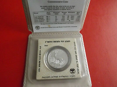 *Israel 1 Sheqel 1992 Silber B.U *WWF * The Roe and Lily of the Valleys