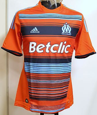 Olympic Marseille Player Issue 2011/12 S/s 3Rd Shirt By Adidas Size Adult Xl New