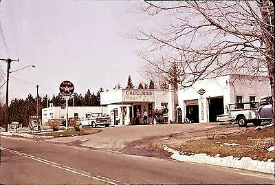 "5x7"" photo  FLYING A GAS STATION ASSOCIATED AAA GOODYEAR GROCERY 1960'S  TRUCK"