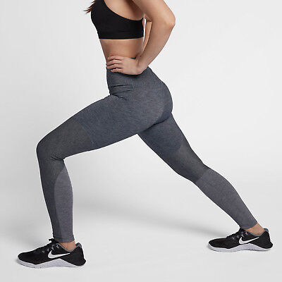 ad3152458f093 Nike Power Women's High-Rise Training Tights XS Gray Black Gym Running Yoga  New
