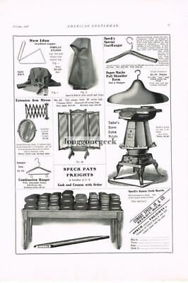 1908 Tailor Tools Stove Shoulder Form, more Conrad Speck Detroit MI Vtg Print Ad
