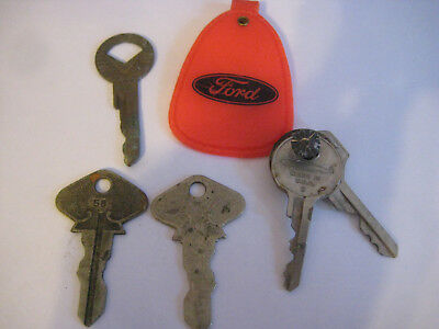 Vintage Antique Ford Auto Car Key Model A Or T Marked 69 10 95
