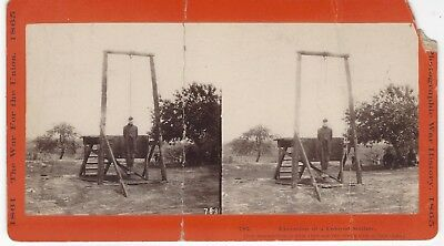Stereoview Civil War Colored Troops Negro Soldier Execution Of William Johnson