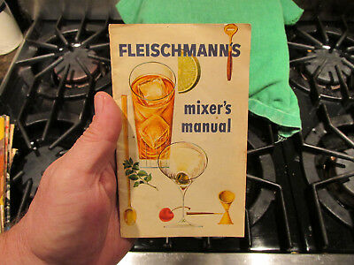 1960s Fleischmann's Distilling Cocktail Mixer's Manual Bar Drinks Recipe Book