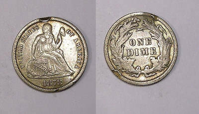 1878 Seated Liberty Silver Dime Inv#325-12