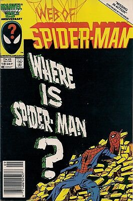 Web Of Spider-Man #18 Marvel 1986 Venom