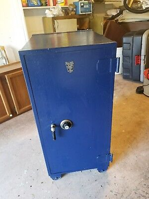 Vintage Large York combination safe with wheels, LOCKED