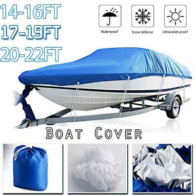 14-16FT/17-19FT/ 20-22FT Trailerable Fish Ski Boat Cover 210D fits V-hull M3T3