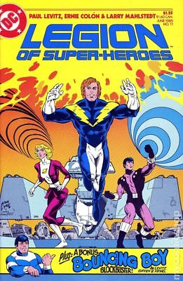 Legion of Super-Heroes (3rd Series) #11 1985 VF+ 8.5 Stock Image