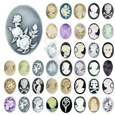 Vintage Resin Flatback Cameo Cabochon Craft Charms Scrapbooking 57 Styles EB