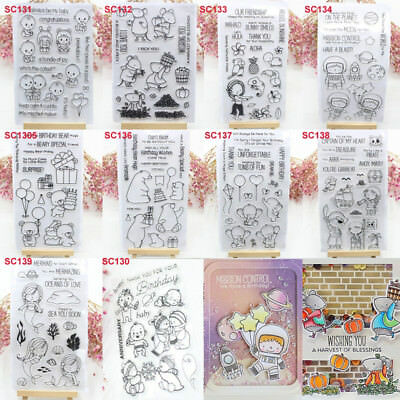 Various Clear Rubber Stamps for DIY Scrapbook Decor Card Making Crafts Supplies